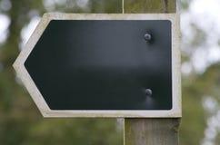 Unbelegtes Landzeichen mit Exemplarplatz Stockbilder