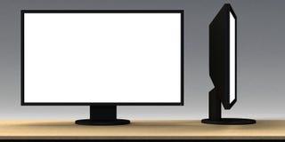 Unbelegtes LCD-Überwachungsgerät Lizenzfreie Stockfotos