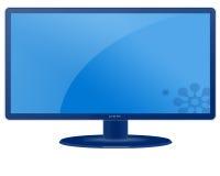 Unbelegtes LCD-Bildschirm-Überwachungsgerät Lizenzfreie Stockfotografie