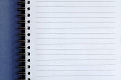 Unbelegtes Notizbuch Stockbild