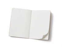 Unbelegtes Notizbuch lizenzfreie stockbilder