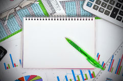 Unbelegtes Notizbuch Stockfoto