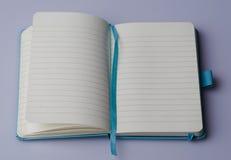 Unbelegtes Notizbuch Stockbilder