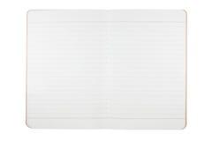 Unbelegtes Notizbuch von bereiten Papier auf Lizenzfreies Stockfoto