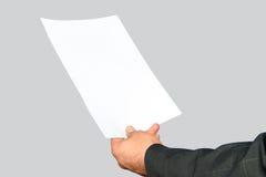 Unbelegtes Papier Stockbilder