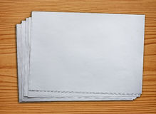 Unbelegtes Papier Stockfotos