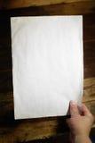 Unbelegtes Papier lizenzfreies stockfoto