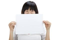 Unbelegtes Papier für Reklameanzeige Stockfotos