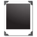 Unbelegtes polaroidbild Stockfotos