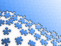 Unbelegtes Puzzlespiel Stockbilder