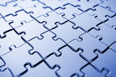 Unbelegtes Puzzlespiel Lizenzfreie Stockfotos