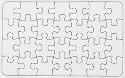 Unbelegtes Puzzlespiel Stockfotografie
