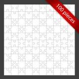 Unbelegtes Puzzlespiel im Feld Stockbild