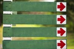 Unbelegtes Richtungszeichen Lizenzfreie Stockbilder