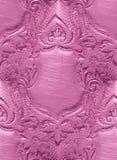 Unbelegtes Schild, Blumenauslegung, gravierend Stockbild