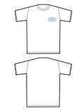 Unbelegtes T-Shirt Stockfotografie