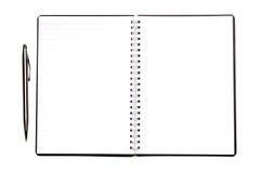 Unbelegtes Tagebuch Lizenzfreies Stockfoto