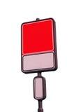 Unbelegtes Verkehrsschild mit einem Platz für eine Abbildung oder einen Text Lizenzfreie Stockfotos