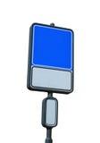 Unbelegtes Verkehrsschild mit einem Platz für eine Abbildung oder einen Text Stockbild