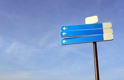 Unbelegtes Verkehrszeichen Lizenzfreie Stockfotos