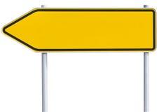 Leeres Verkehrszeichen - linker Pfeil stockfotografie