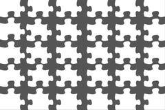 Unbelegtes weißes Puzzlespiel trennte ab lizenzfreies stockfoto