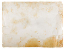 Unbelegtes Weinlesepapier Stockbild