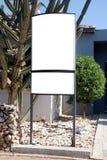 Unbelegtes Zeichen mit einem Exemplarplatzbereich Stockfotos