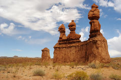 Unbelievable. Goblin Valley. Unbelievable sculpture of natural origin of red sandstone in the American prairies stock photography