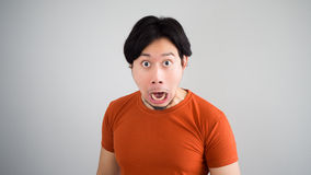 Unbelievable face of man. Royalty Free Stock Photography