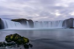 Unbelievable Godafoss Waterfall. royalty free stock photography