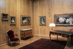 Unbelieveable pokaz miniaturowi arcydzieła obramowani w szkle louvre, Paryż, Francja, 2016 zdjęcia royalty free