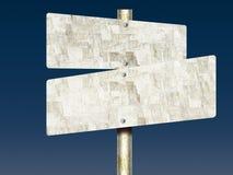 Unbemaltes Tin Road Signs Stockfoto