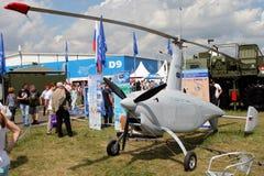 Unbemannter Gyroplane GY 500 bei der internationalen Luftfahrt und beim Spac lizenzfreie stockbilder