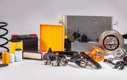 Unbenutzte Teile für Fahrzeug lizenzfreie stockfotografie