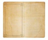 Unbenutztes Weinlese-Protokoll-Buch Stockfotografie