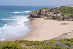 Unberührter Strand stockfoto
