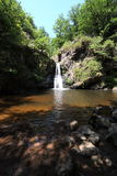 Unberührter Wasserfall Lizenzfreie Stockfotos