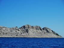 Unbewohnte kroatische Inseln Stockfotografie