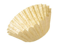 Unbleached Coffee Filter. Isolated on white background Royalty Free Stock Images