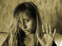unblinking blick Fotografering för Bildbyråer