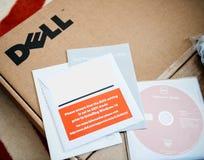 Unboxing della stazione di lavoro di Dell Computer Fotografie Stock Libere da Diritti