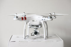 Unboxing Drone quadrocopter Dji Phantom 3 Advanced Royalty Free Stock Images