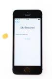 Unboxing i premiera nowy iPhone SE Zdjęcie Stock