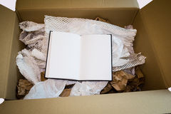 Unboxing nowy notatnik Fotografia Royalty Free