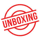 Unboxing rubber stamp Stock Images