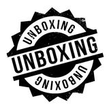 Unboxing rubber stamp Royalty Free Stock Photography