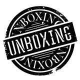 Unboxing rubber stamp Royalty Free Stock Photos