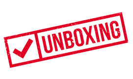 Unboxing rubber stamp Stock Photography