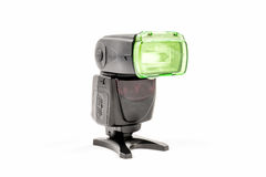 Unbranded external flash unit for DSLR camera Stock Image